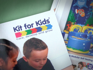 Kit for Kids education catalogue design