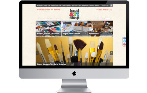 Artist supplies magento website design nottingham