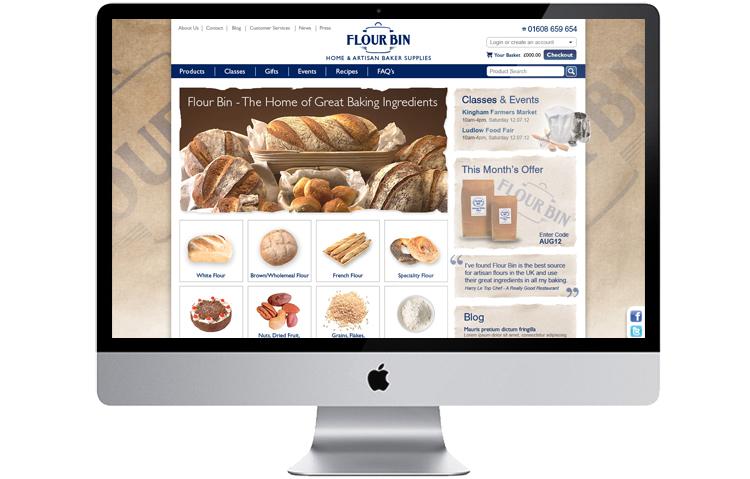 Food retailer ecommerce website design and build