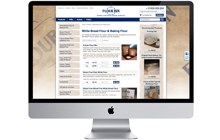 Food website design, ecommerce website design peak district, eyam website designers, hope valley designers, Food Retailer Ecommerce Website