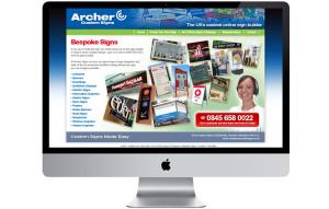 Signs bespoke ecommerce website design Nottingham, Nottinghamshire