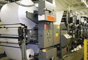 Web printing press for larger run catalogues