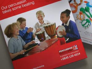 Percussion Plus Music Catalogue Design and Print