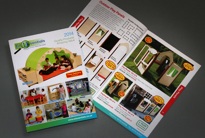retail catalogue design, Edusentials catalogue design, catalogue design chorley, catalogue designers lancashire, catlogue designers