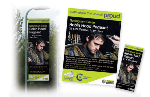 lamp post banner design and print, banner design nottingham, large banner print