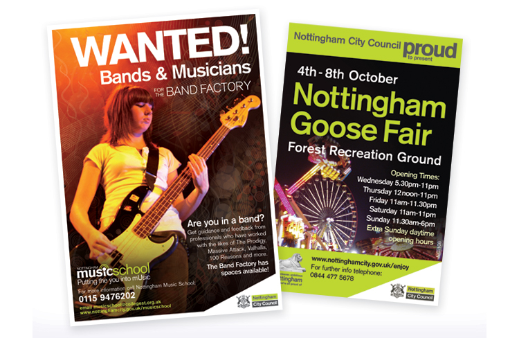 public-sector-leaflet-design, Poster design nottingham, poster designers, nottingham poster print