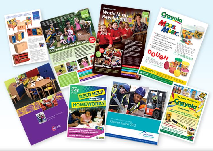 Leaflet design for schools, college prospectus design company, graphic design peak district, website design hathersage