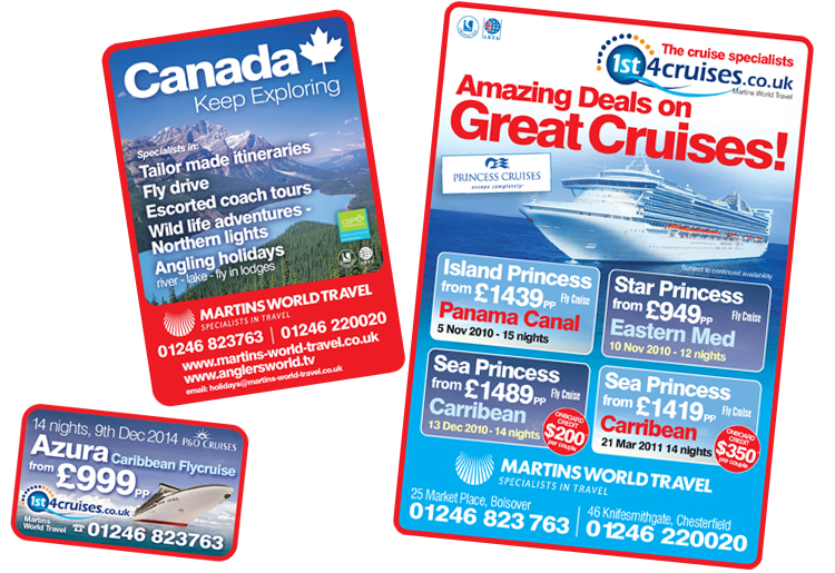 advertisement design sheffield, travel agents chesterfield,  newspaper advert design, graphic design chesterfield