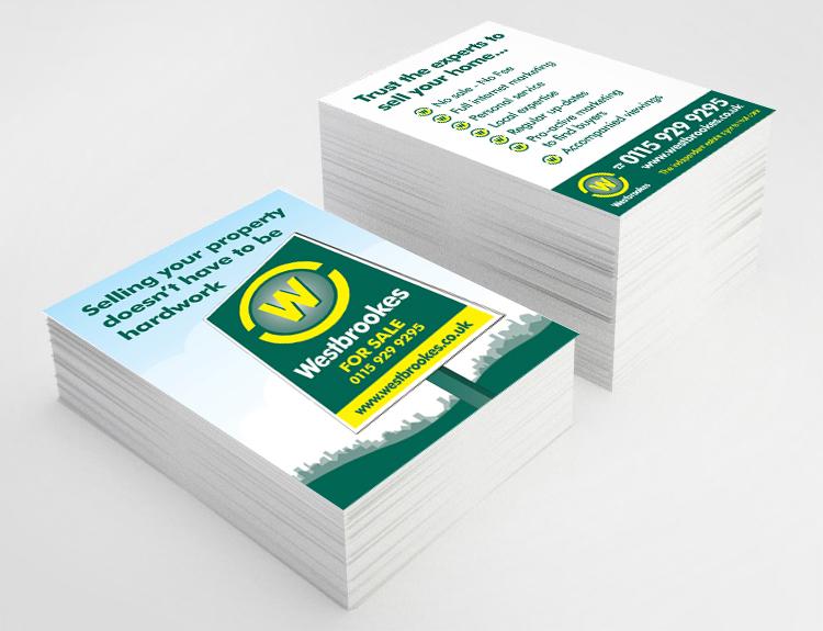 estate agent leaflet design, postcards design for estate agents, postcard design peak district, leaflet designers bakewell