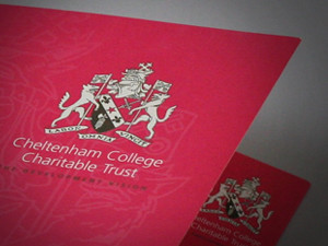 school brochure design company, school prospectus design peak district, cheltenhem college folder design