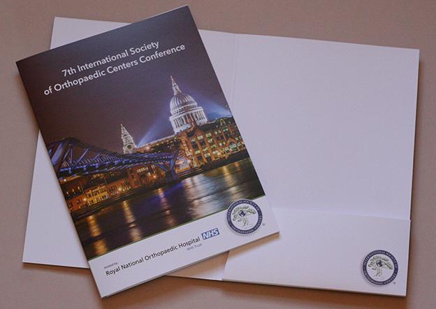 A4 folder design, conference folder design