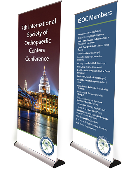 Conference design,  Roller Banners, Pop-up Displays