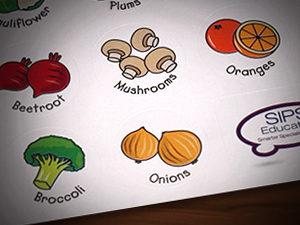 simple fruit illustration, illustration for children, 5 a day illustration