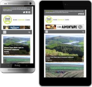 responsive website design, website design peak district, web designers hathersage, graphic design bakewell