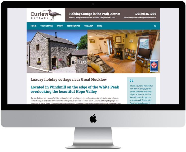 Website design hope valley, peak district holiday cottage website design, web design great hucklow