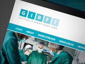 Website design for NHS, GIRFT website designers, responsive web design peak district