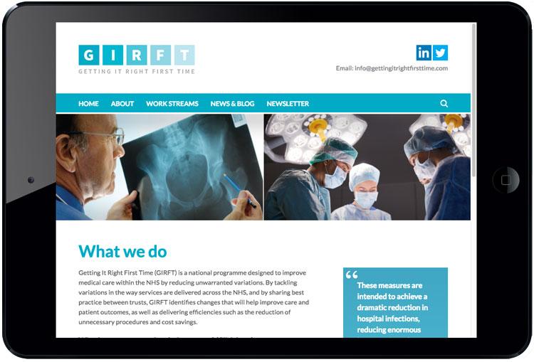 NHS website design, website designers for the NHS, healthcare web design, website designers for healthcare, hospital web design
