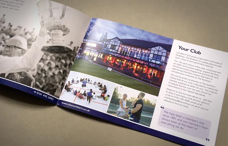 Sports club brochure print, brochure design for tennis clubs, tennis brochure designers
