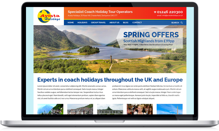 holiday website design chesterfield, travel company web designers, web design for travel companies