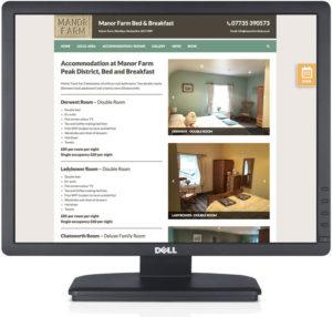 bed and breakfast web design, websites for bed and breakfast, hotel websites, tideswell website design