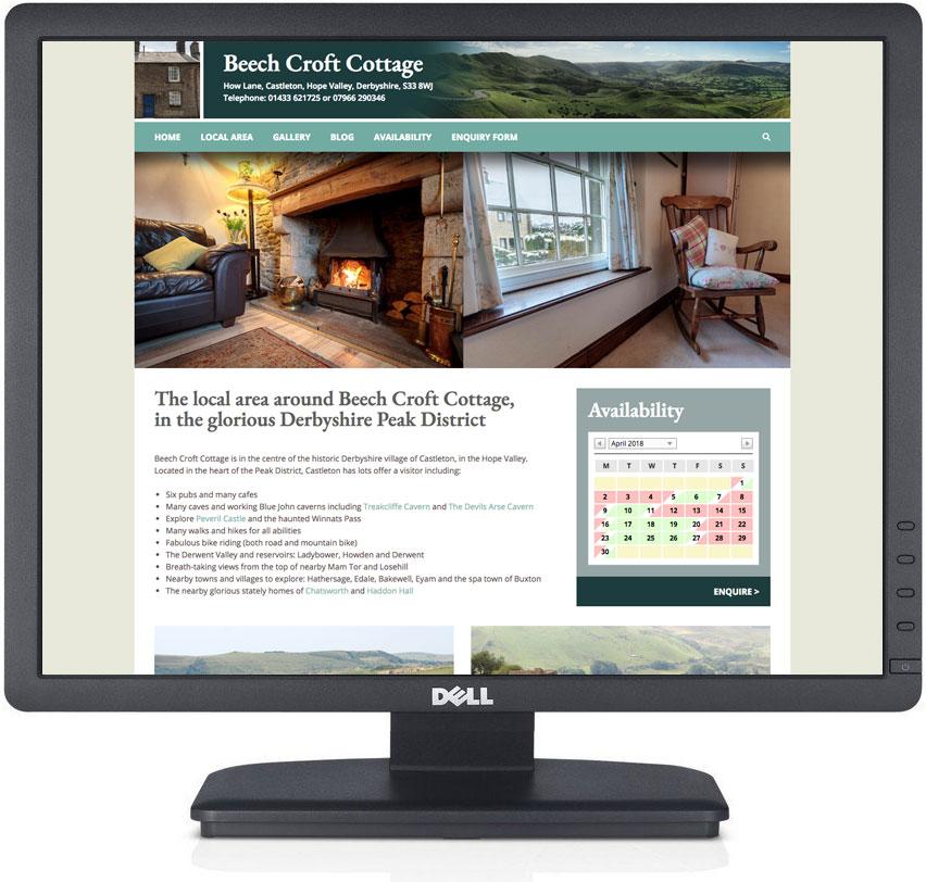website design castleton, holiday cottage website designers, holiday cottage photography