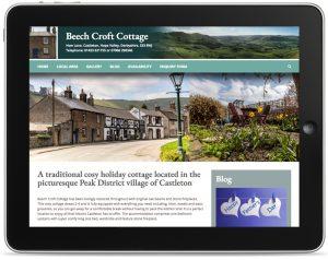 peak district holiday cottage website design, web designers castleton, castleton web design, web design company hope valley