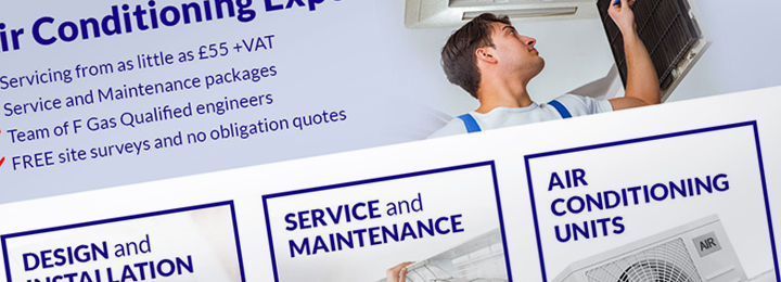 Spalding Air Conditioning Website