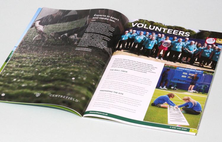 Tennis brochure design