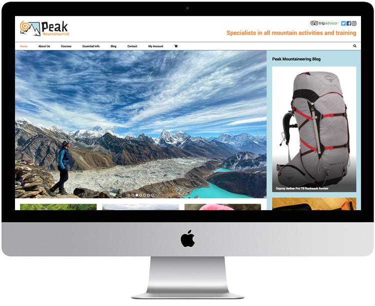 Peak district web design, hope valley