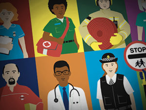 People who help us illustration