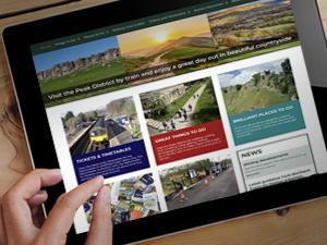 Website design peak district by train